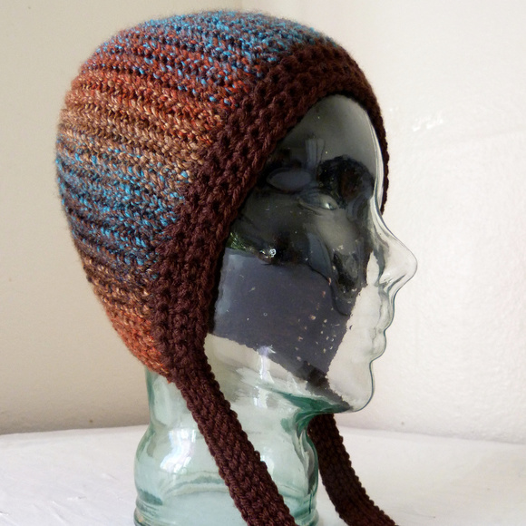 Sylver Santika Accessories - Handmade Crochet Winter Beanie Hat Boho Hippy New